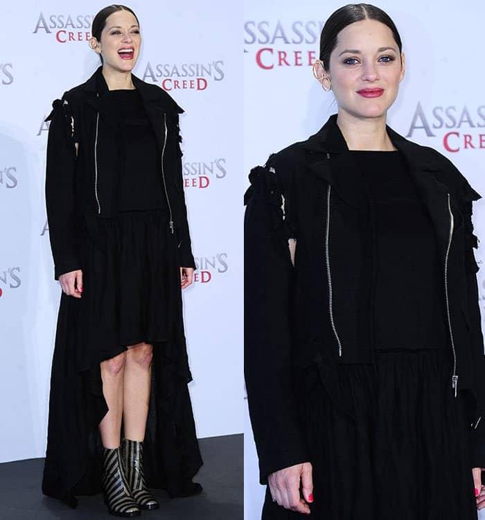 marion-cotillard-facetasm-jacket-black-dress