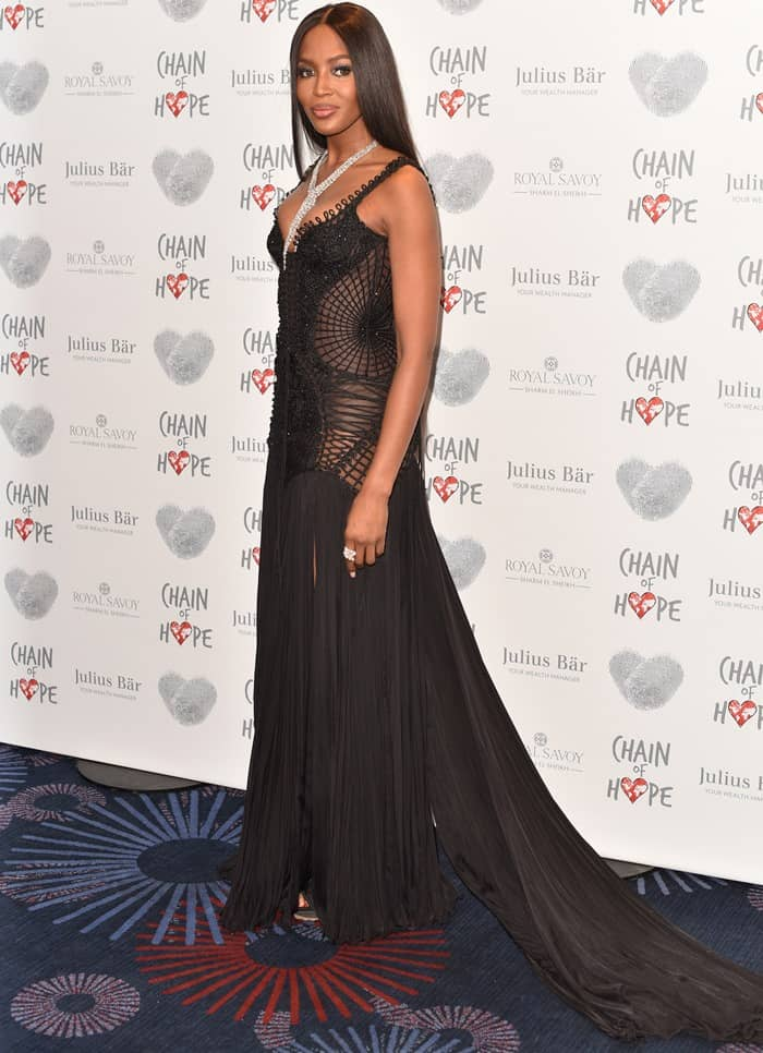 Naomi Campbell at Chain of Hope Gala Ball at Grosvenor House, on November 18, 2016 in London, England