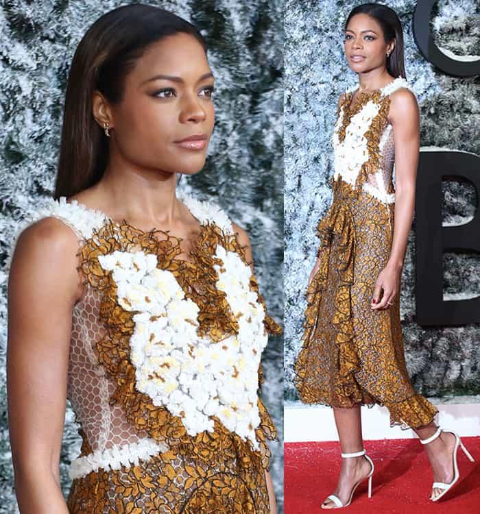naomie-harris-rodarte-white-brown-ruffled-floral-lace-dress