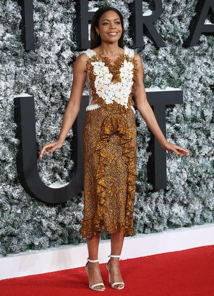 naomie-harris-ruffled-floral-dress