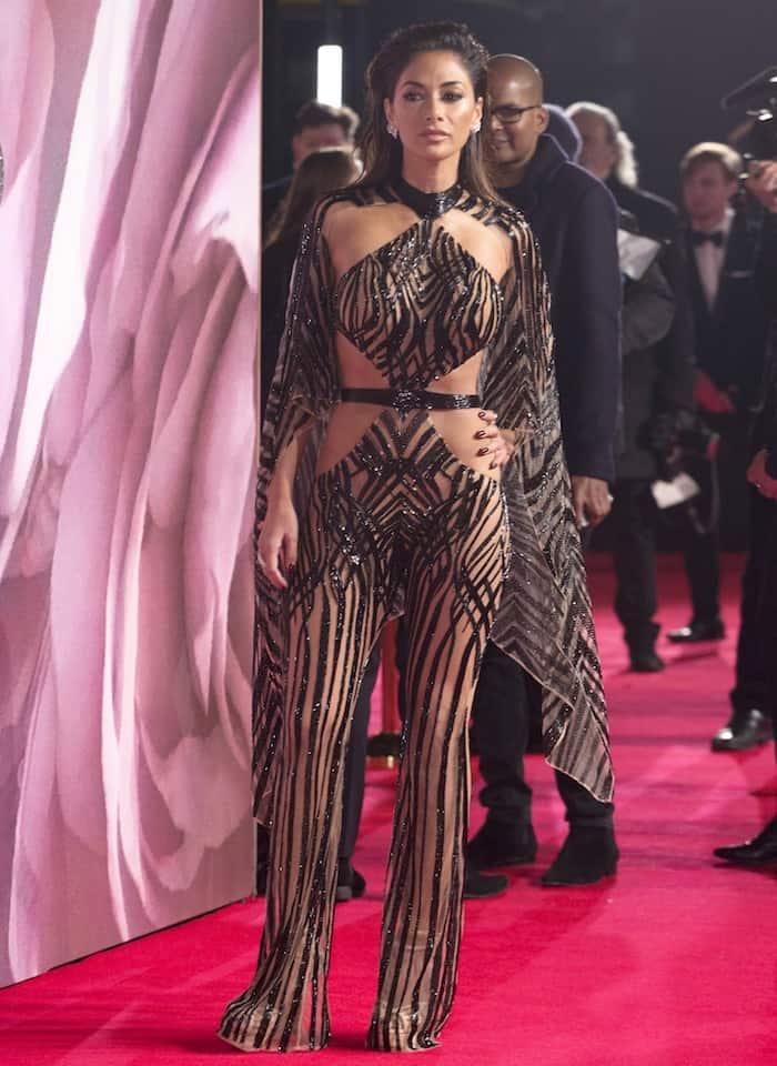 Nicole Scherzinger went commando in a revealing jumpsuit