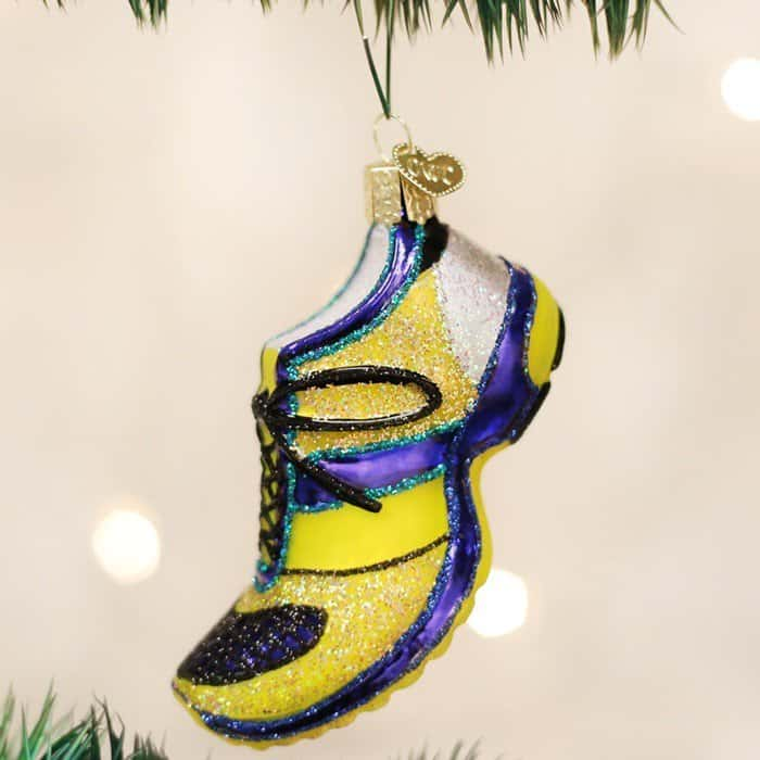 Old World Christmas Glass Blown Running Shoe