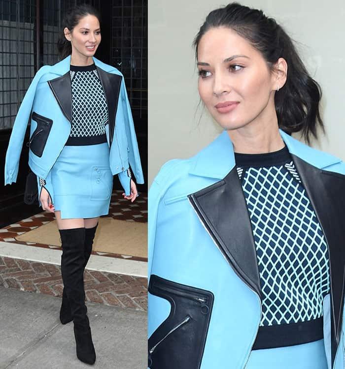 olivia-munn-blue-versace-dress-blazer