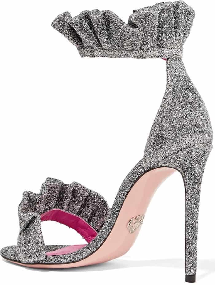 oscar-tiye-antoinette-ruffle-trimmed-textured-lame-sandal-heels
