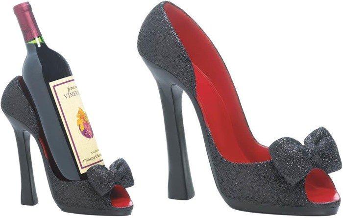 Peep Toe Shoe Wine Holder