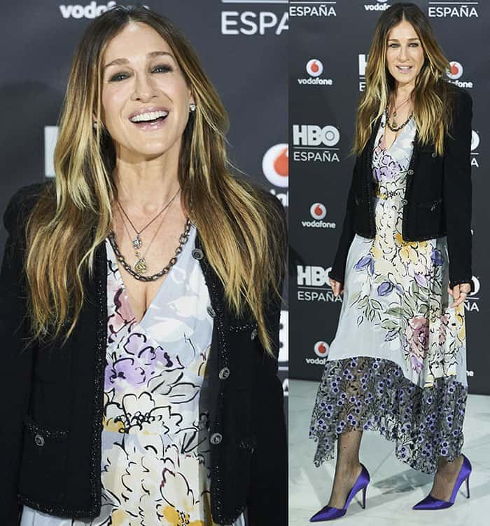 sarah-jessica-parker-tracy-reese-dress-chanel-jacket