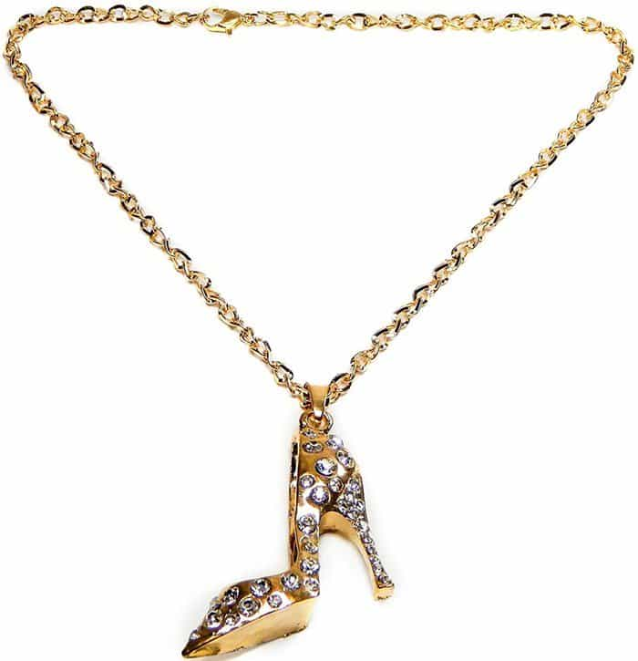 High Heel Shoe Rear Mirror Car Charms in Gold