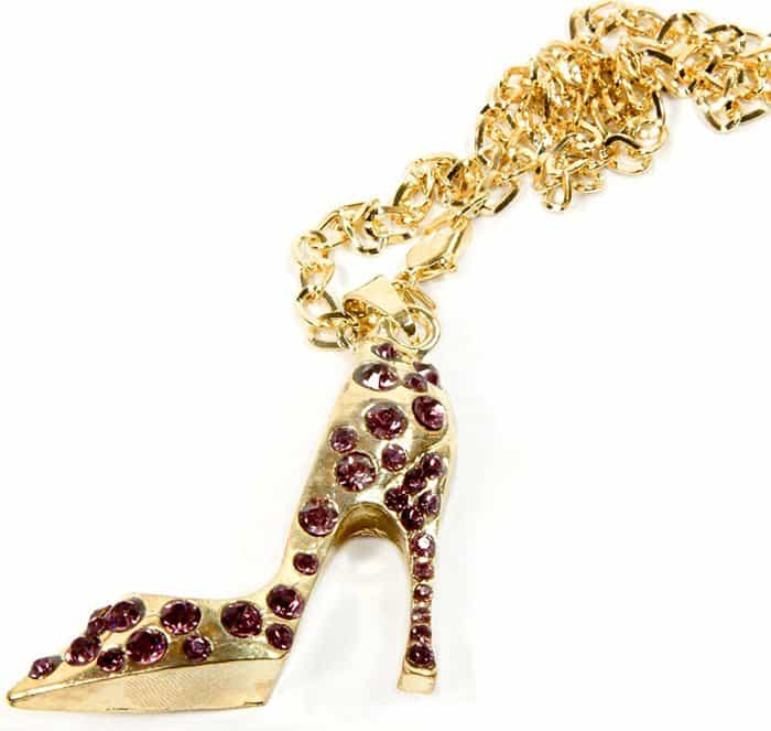High Heel Shoe Rear Mirror Car Charms in Purple