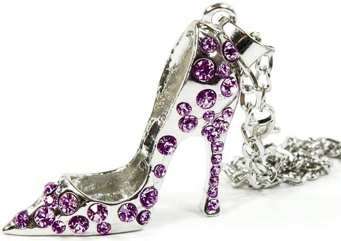High Heel Shoe with Rhinestone Jewels