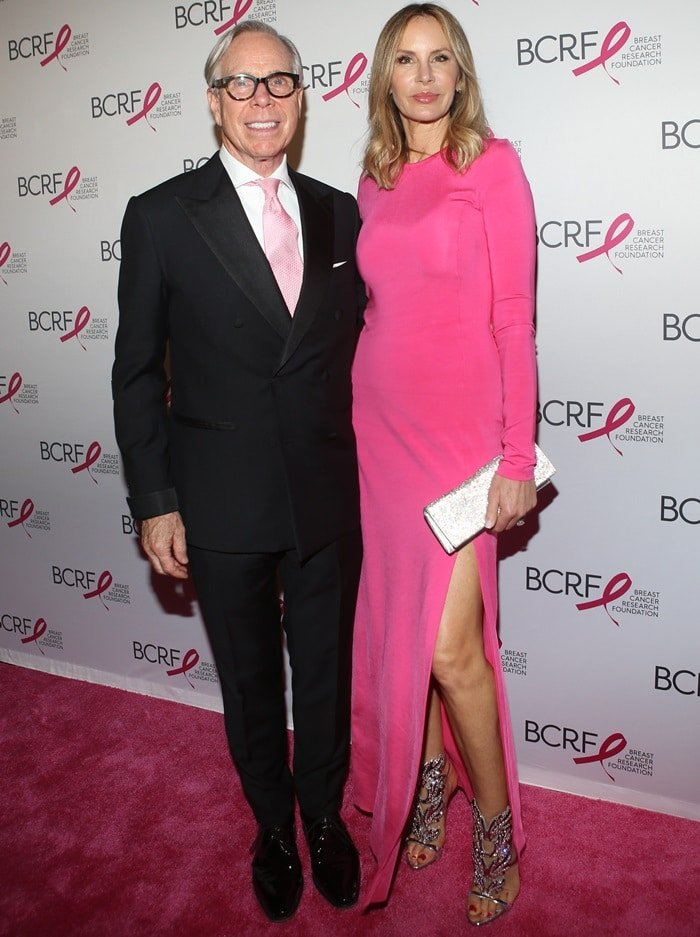 Dee Ocleppo Hilfiger and Tommy Hilfiger at the Breast Cancer Research Foundation's Hot Pink Party at the Park Avenue Armory in New York City on May 17, 2018