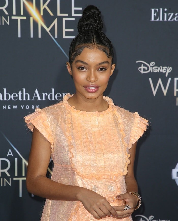 "Yara Shahidi at the ""A Wrinkle In Time"" premiere in Hollywood on February 26, 2018"
