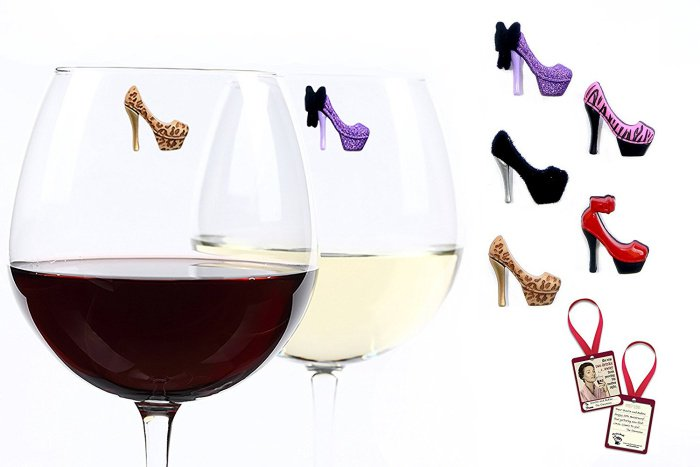 Red Bottom High Heels Shoes Wine Charms