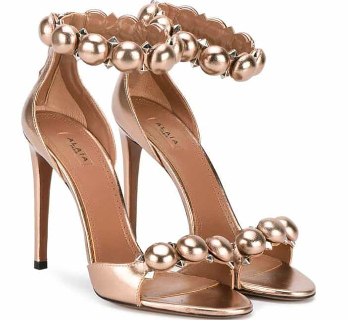 Alaia Studded Sandals Copper
