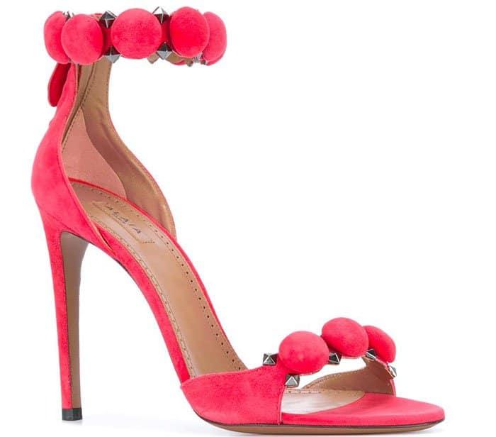 Alaia Studded Sandals Pink