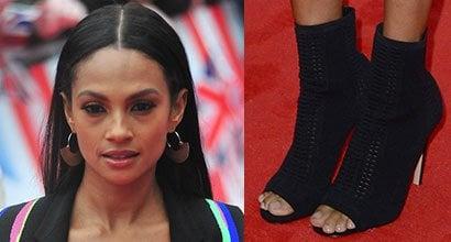 alesha dixon's sexy feet and nude legs in hot high heels
