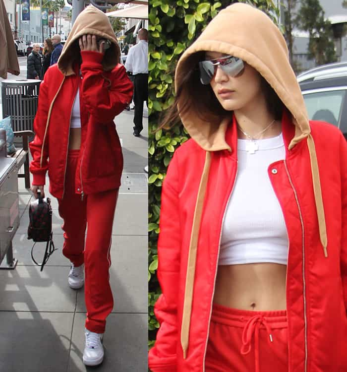 new product b7ede 1b6f4 Bella Hadid at Il Pastaio in Beverly Hills on January 3, 2017.