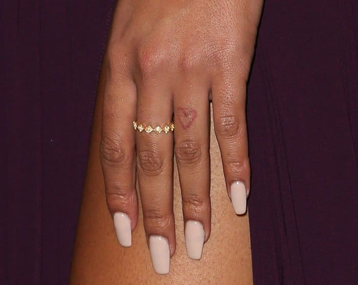 Chanel Iman kept her accessories simple with a jeweled slim ring