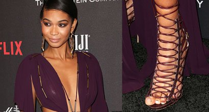 b59c50172f2 Chanel Iman s Sexy Feet and Flawless Legs in Hot High Heels