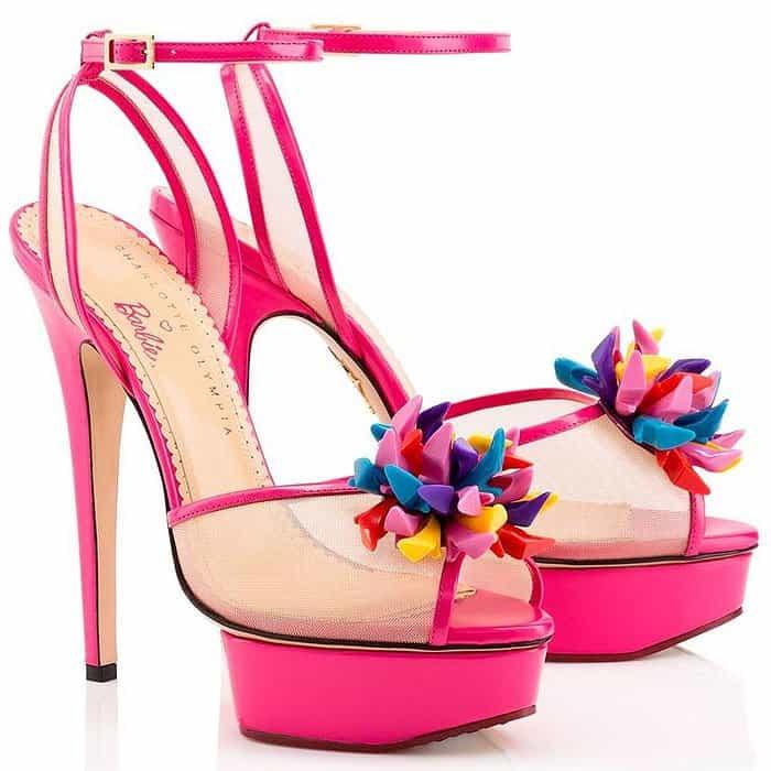 Charlotte Olympia Pomeline Barbie-Inspired Sandals