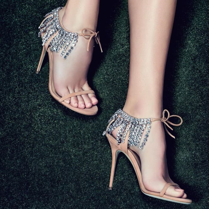 97573f197b6 Dazzling Crystal Embellished Carrie and Claudia Sandals by Giuseppe ...