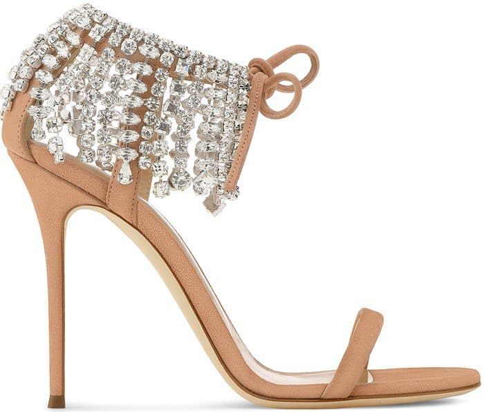 Giuseppe Zanotti 'Carrie' Crystal-Embellished Suede Sandals