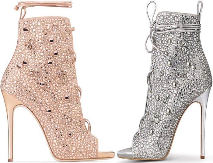 af053ac3c2c15 Giuseppe for Jennifer Lopez 'Lynda' Embellished Lace-Up Sandals