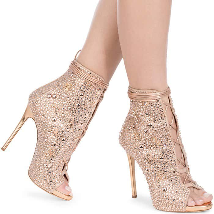 e7fe52d44d4f2 Giuseppe for Jennifer Lopez 'Lynda' Embellished Lace-Up Sandals