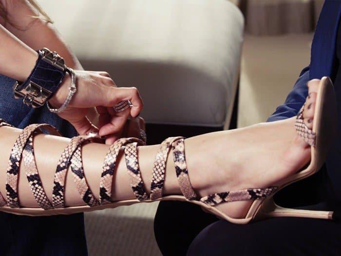 Giuseppe for Jennifer Lopez 'Emme' Knee-High Gladiator Sandals