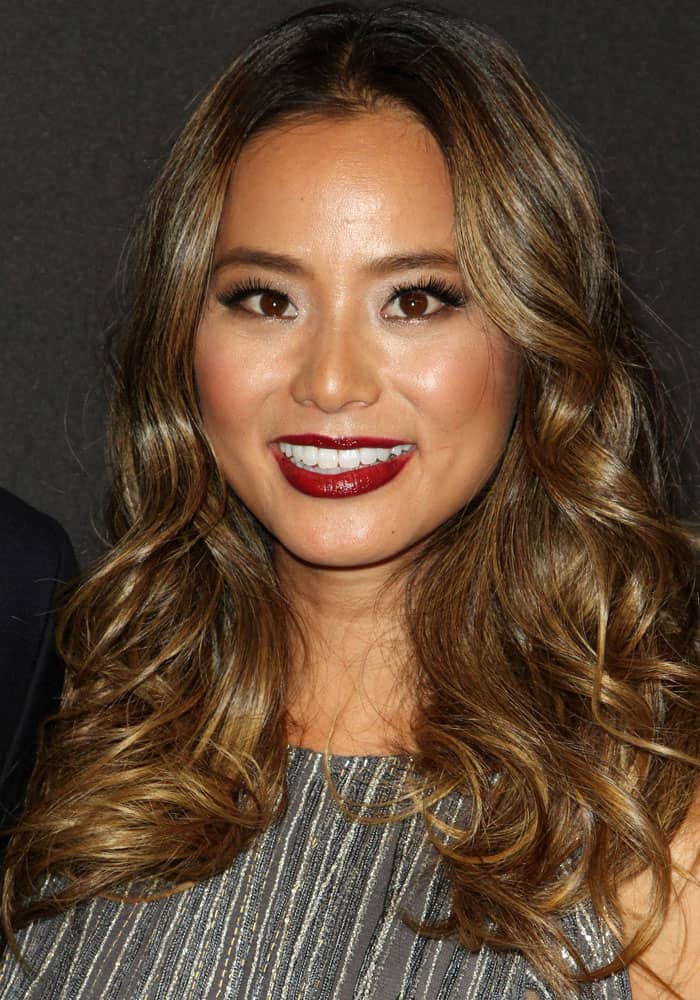 Jamie Chung at the InStyle & Warner Bros. Pictures 2017 Golden Globes after-party