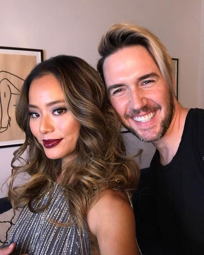 Jamie poses with her hairstylist Paul Norton