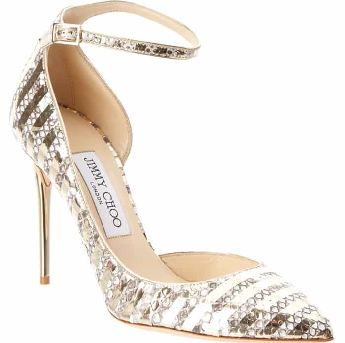 Gold Jimmy Choo Lucy d'Orsay Pumps