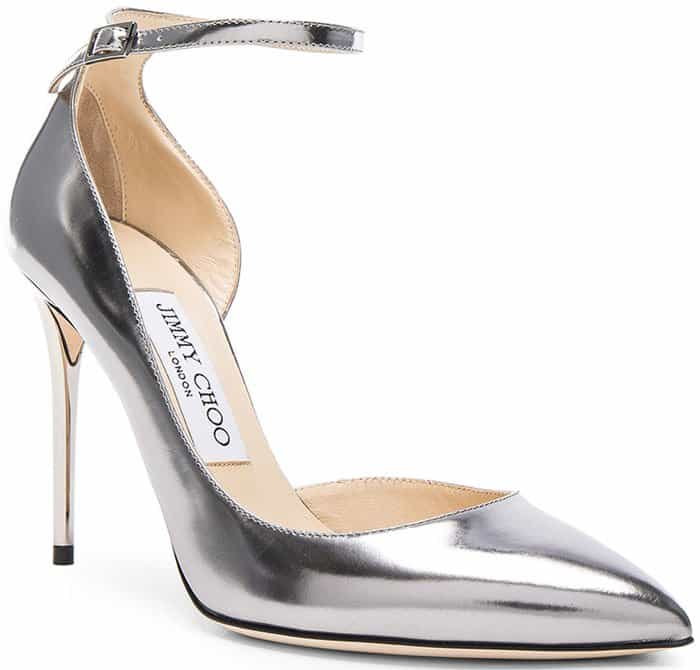 Silver Jimmy Choo Lucy d'Orsay Pumps