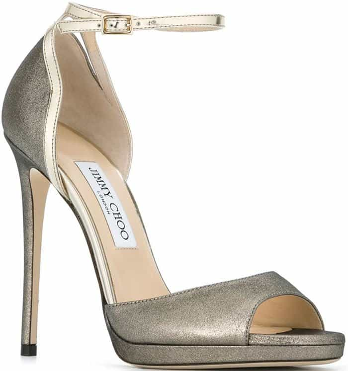 Jimmy Choo Pearl Glitter Sandals