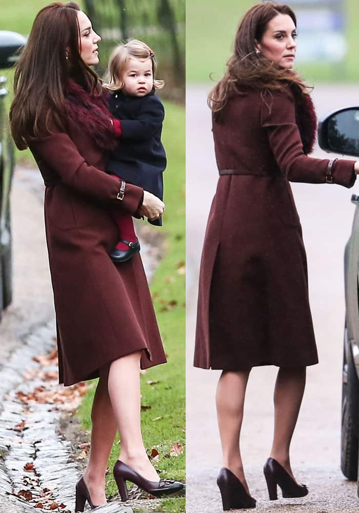 Kate Middleton At Christmas Church Service In Tod S Pumps