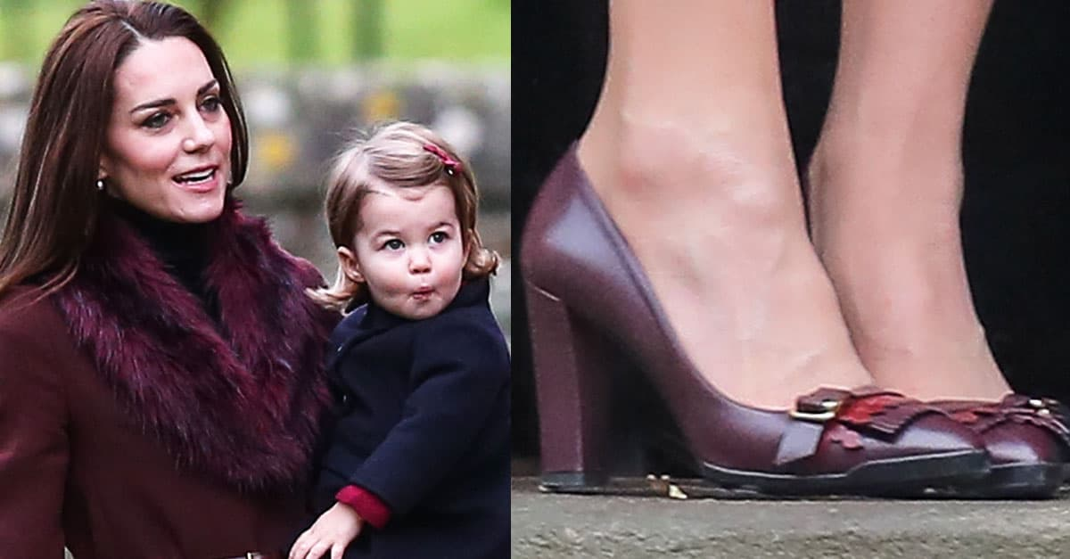 cbc505f9726 Kate Middleton at Christmas Church Service in Tod s Pumps