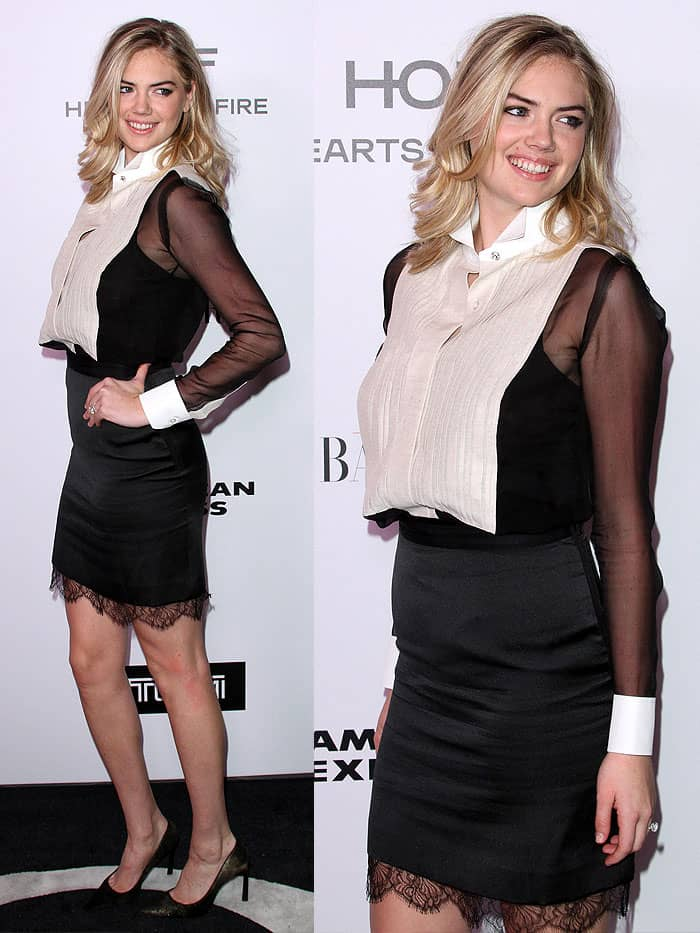 Kate Upton at the Harper's Bazaar celebration of the 150 Most Fashionable Women