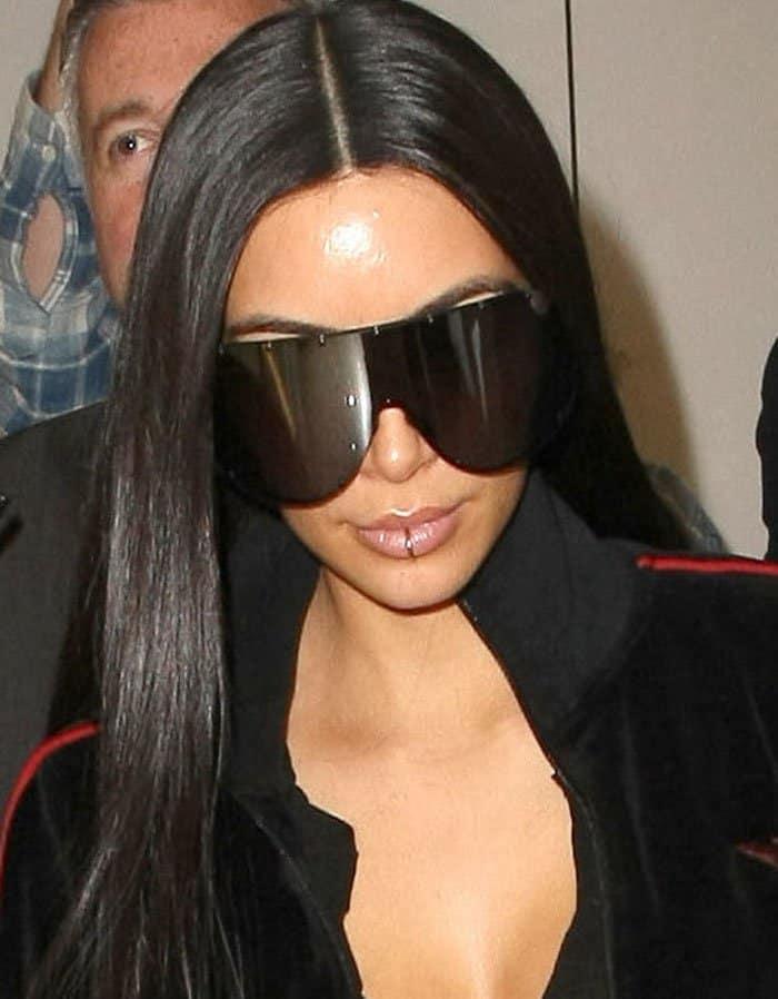 Kim Kardashian's lip ring