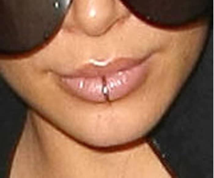 Kim Kardashian makes a case for lip piercings