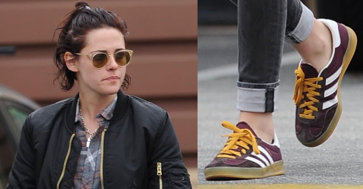 Kristen Stewart Grabs Food With Stella Maxwell in Adidas Sneakers 8713527adeea