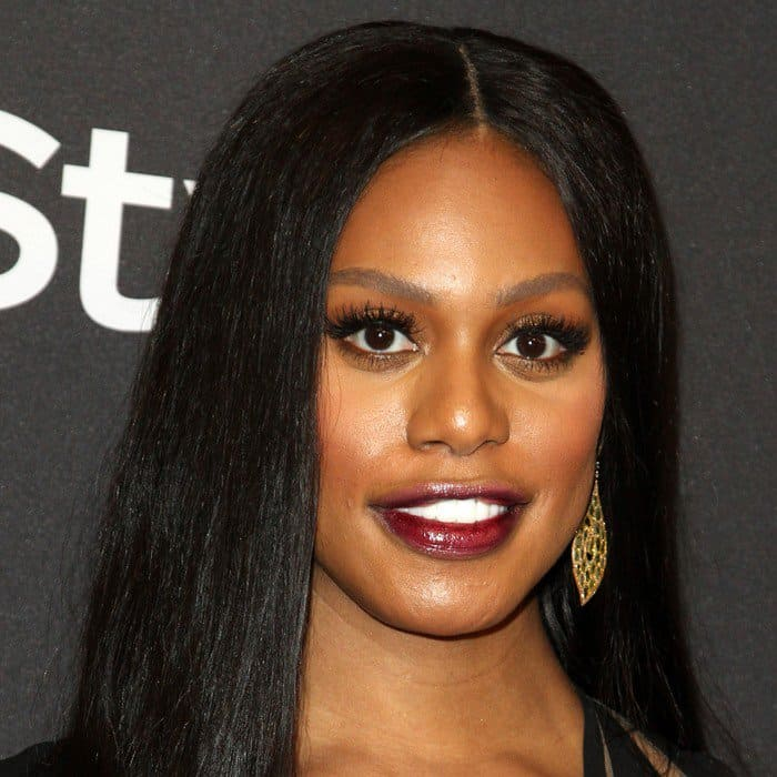 Laverne Cox accessorized with jewelry from Lˊ Dezen By Payal Shah, Cadar, and Hearts On Fire