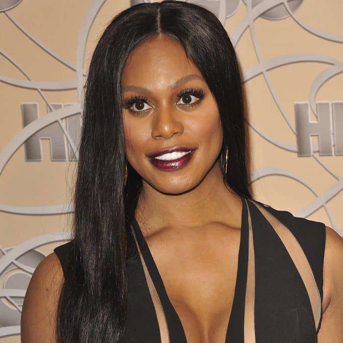Actress Laverne Cox at the 2017 Golden Globes After Party hosted by Warner Bros. Pictures and InStyle at The Beverly Hilton Hotel on January 8, 2017, in Beverly Hills, California