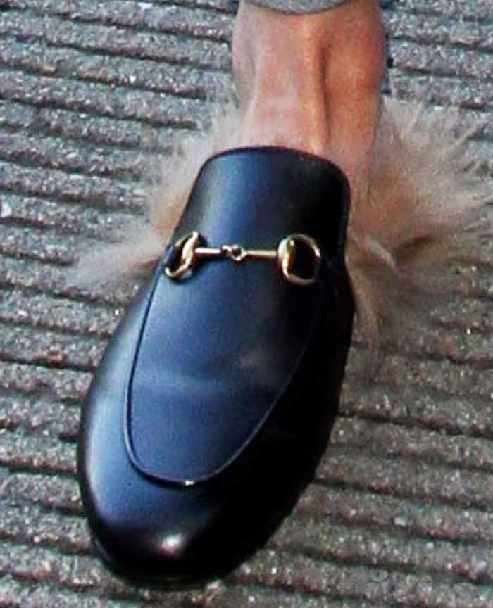 LeAnn jumps on the Gucci Princetown fur mules bandwagon