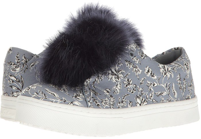 511ac389a5188f Add Some Flair in Sam Edelman s  Leya  Faux Fur Laceless Sneakers