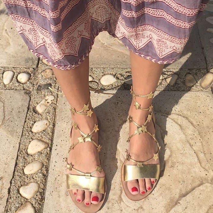 e074c651a7c2 Star-Studded Loeffler Randall  Starla  Gladiator Flat Sandals
