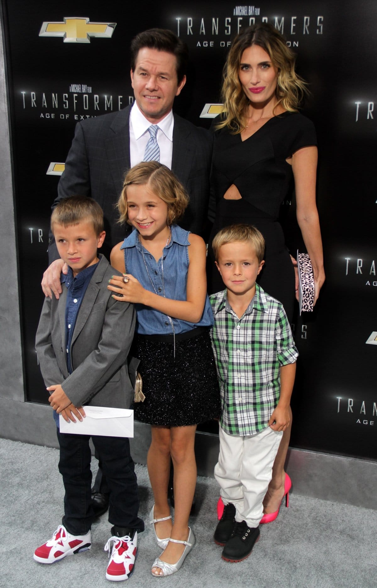 Mark Wahlberg was joined by his wife Rhea Durham and three of their four kids, Ella, Michael, and Brendan, at the premiere of his movie Transformers: Age of Extinction