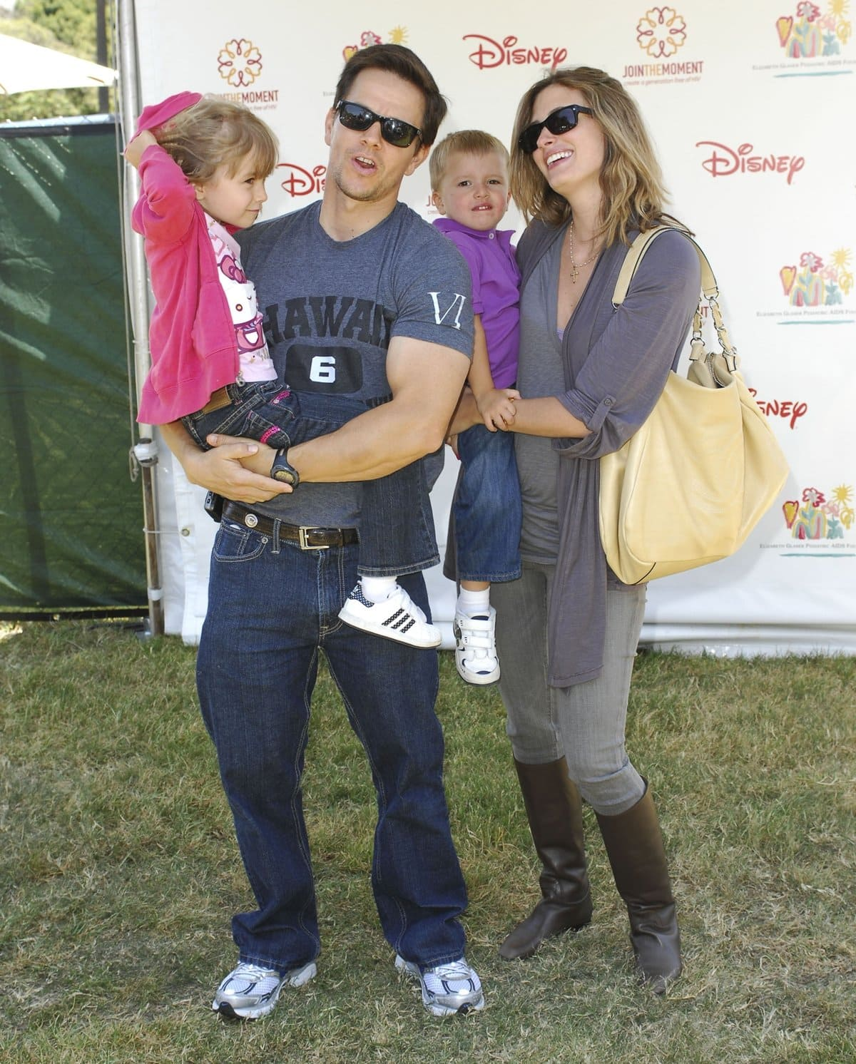 Mark Wahlberg and Rhea Durham with their children Ella Rae Wahlberg and Michael Wahlberg
