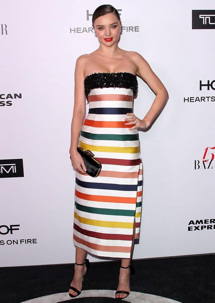 Miranda Kerr at Harper's Bazaar 150 Most Fashionable Women Celebration