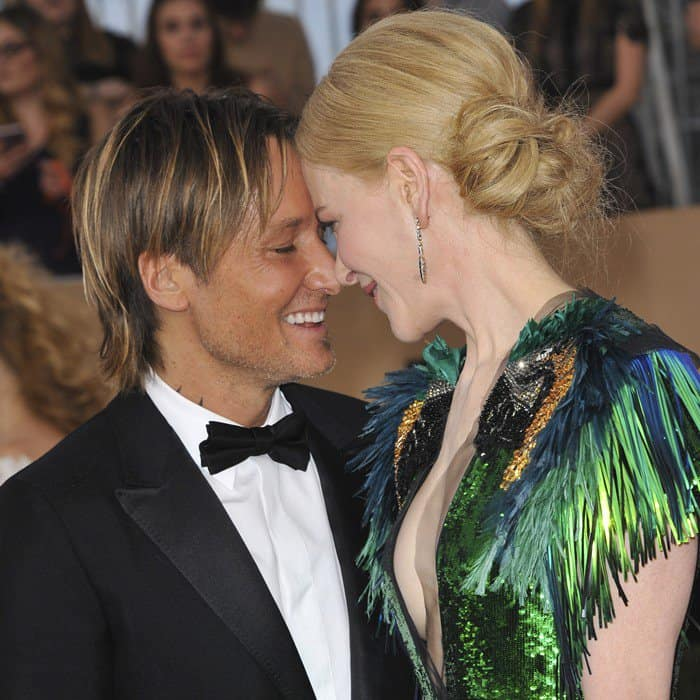 Nicole Kidman and her husband Keith Urban at the 23rd Annual Screen Actors Guild Awards (SAG) 2017 held at The Shrine Auditorium Media Complex in Los Angeles on January 29, 2017