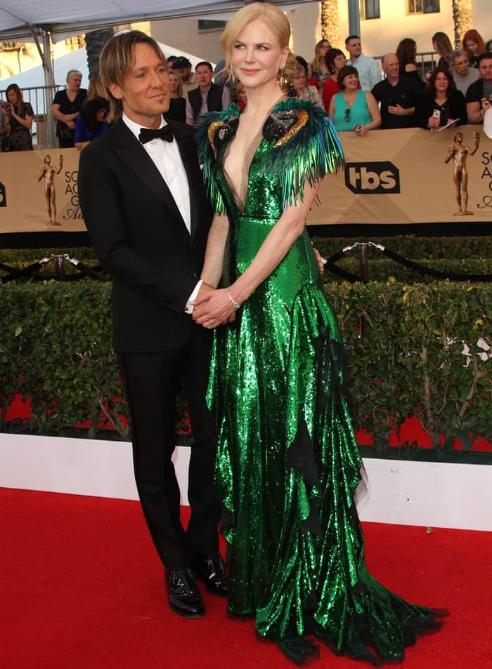 Nicole Kidman and her husband Keith Urban looked very much in love at the 2017 Screen Actors Guild Awards