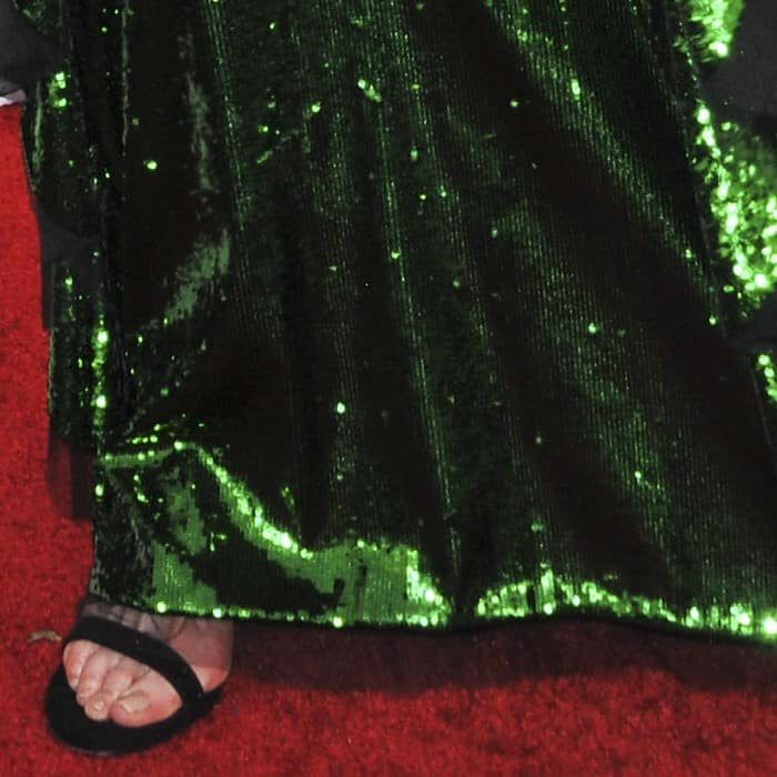 Nicole Kidman styled her parrot gown with Stuart Weitzman heels